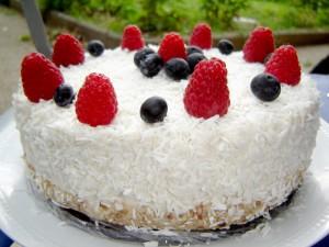 White Creamy Coconut Cake